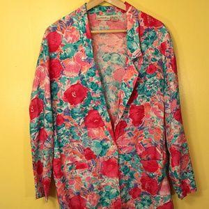 1980s Neon Floral Blazer Vintage for Spring